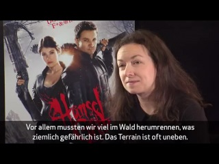 Jeremy Renner and Gemma Arterton Interviewed about Hansel And Gretel (Germany)